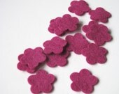 Felt Flower Shapes   Wool Felt Tiny Blossoms Set of 15  Appliques Sewing Crafting Scrapbooking Confetti Party Supply Wedding Shower DIY