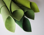Wool Felt Set, Fresh Greens, 8x12 Inch Sheets, 1mm Thick Felt, Avocado, Fern, Forest, Spring Green, Light Green, Felt Fabric