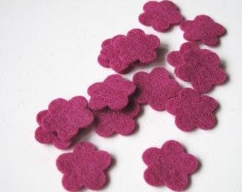 Felt Flowers, Pre Cut Wool Felt, Die Cut Flowers, Hair Clip Supply, Quilting, Applique, Scrapbooking, Confetti, Party Supply, Wedding DIY