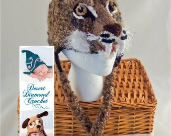 Bobcat Earflap Beanie Hat - All Sizes