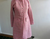 1960s Pink Check Dress and Coat - REDUCED PRICE