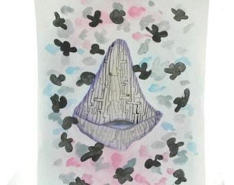 Watercolor Space ship
