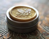 RESERVED LISTING To Bee Solid Natural Perfume for the Naturalist - 8.7 grams in a round tin - Made for you with local beeswax