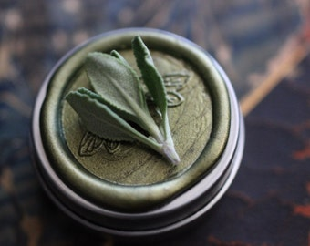 Chaparral natural solid perfume round - For the Dude - California Wild Wood & White Sage, Cowboy - Desert dude, man tin - Nature Lover