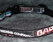 Adjustable Cat or Small Dog Collar from Recycled Ninkasi Babylon Double IPA Beer Labels