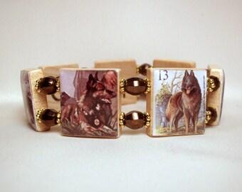 Belgian TERVUREN Bracelet / Dog Lover Gift / Scrabble Jewelry / Handmade