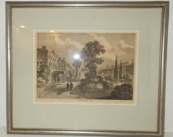 Authentic Antique English Print Queen Square 1810 William Prior PROFESSIONAL Framed Matted
