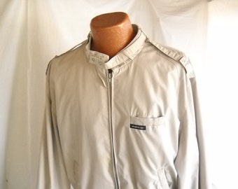 Vintage Jacket Members Only Jacket Grey Gray 80s Jacket