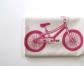 Bicycle Cotton Kitchen Towel Mountain B - Choose your Ink Color