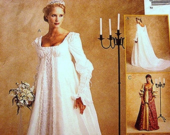 Ever After Dress Renaissance Wedding Gown Costume Dress Pattern Misses Size 14 16 18 UNCUT