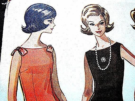 1960s Dress Pattern McCalls Misses Sleeveless Dress size 9 UNCUT Vintage Sewing Pattern