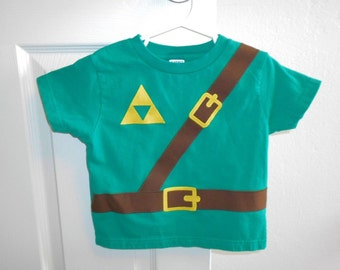 Great Halloween Costume READY TO SHIP Great gift Legend of Zelda inspired Children's t-shirt with sewn cotton applique
