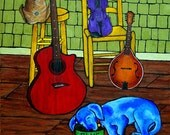 "NEW..... 12X12-""StRunG ouT BLUES"" -Print"