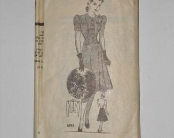 Vintage 40s Two Piece Dress Pattern Anne Adams 4195 Size 14 Bust 32