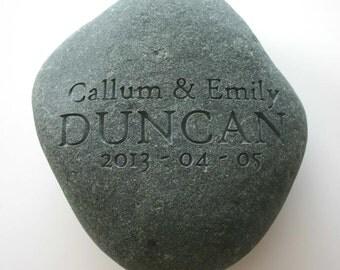 Custom Engraved Oath Stone Oathing Unity Rock Weddings