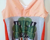 Upcycled Irish womens top PLUS SIZE 20 22 bust 46 48 50