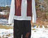 Boy's Peasant Costume Shirt, Vest, Britches