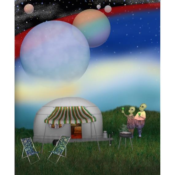 Bob and Sue Go Camping Print