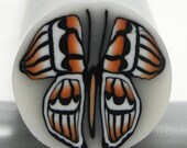 Polymer Clay Cane Orange Butterfly