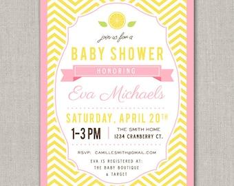 Pink Lemonade Baby Shower Invitation