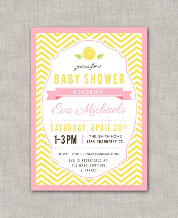 Pink And Gold Baby Shower Invitations for adorable invitation example