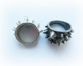 Spiked Urchin Ring Sterling Silver - Thorn Silver Ring - Spiked Ring Steling Silver - Spiked Armor Ring Sterling Silver