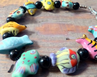 Cute Bracelet 'Fishies swimming in the Sea'