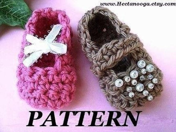 Crochet Pattern,   Very easy - SWEET CAROLINE Mary Jane booties ,# 163,  Newborn to 12 months, baby crochet patterns