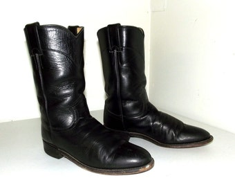 Roper style  Black Justin cowboy boots size 6 B