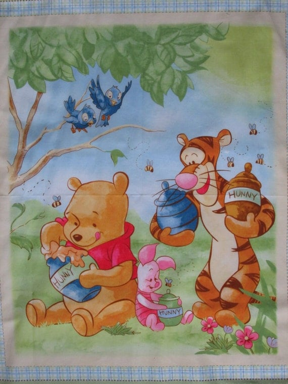 Winnie The Pooh Wall Hanging Crib Quilt Fabric By