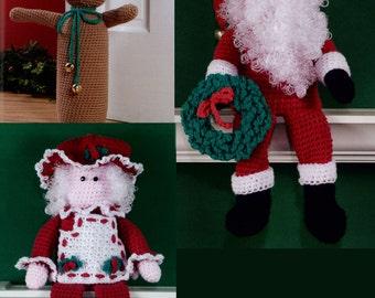 Christmas Doorstops & Shelf Sitters Crochet Pattern PDF