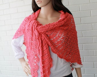 Flamingo Shawl Crochet Pattern PDF