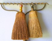 Reserved for Sharon Vintage Whisk Broom - Pair - Farmhouse - Rustic Fall Decor