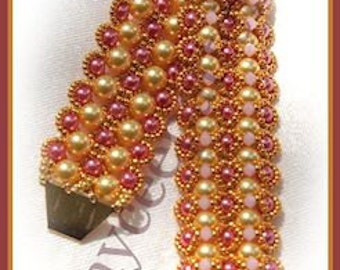 Beading Tutorial - Pearl Cuff - RAW embellished