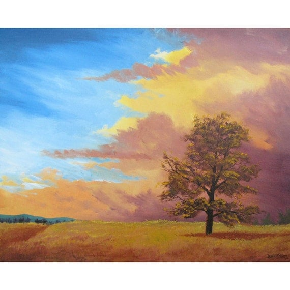 Exterior: Items Similar To Landscape Painting Acrylic Original