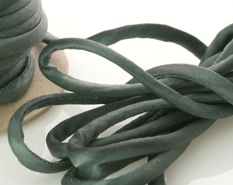 "1/8"" Silk Cord 3 yds Grey Stone Jewelry Making Supplies SK"