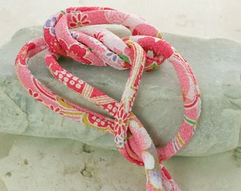 Japanese Chirimen Cording - Necklace or Bracelet Cord Kimono Fabric 811A