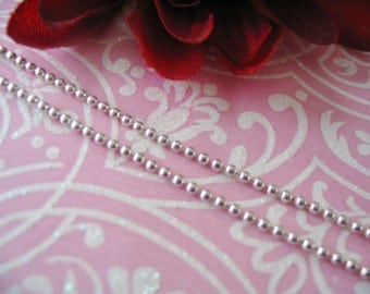 5pc...1.5mm Shiny Silver Ball Chains. Great for pendants, Cabochons, Scrabble and Glass Tiles.