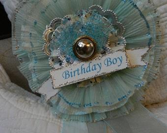 Crepe Paper Prize Ribbon Medallion Birthday Boy