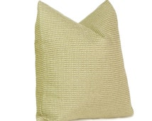 Moss Green Pillow, Nubby Textured Tweed Cushion Cover, Decorative Couch Pillow, 18x18, Mens Contemporary Decor, PILLOW SALE