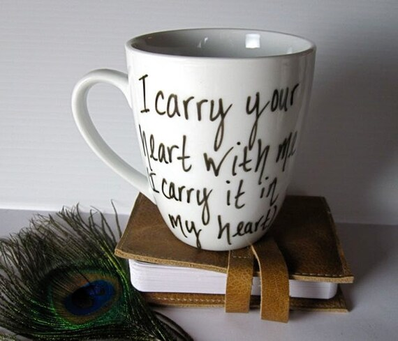 Poet EE Cummings Hand written Mug