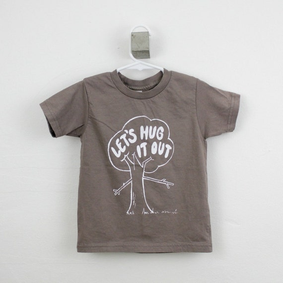 Organic toddler t shirt tree hugger screen printed 2t 4t for Toddler t shirt printing