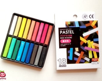 Color Chalk, Pastel Chalk, pastel, chalk, drawing, painting, craft, colorful, colored, pink, orange, red, black, yellow, bright, 18 colors