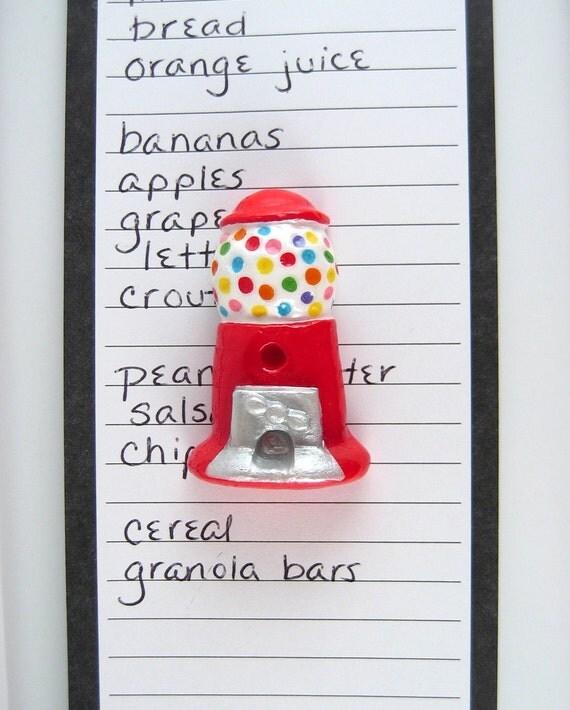 SALE! Gumball Machine Fridge magnet - refrigerator, cute kitchen decor