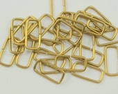 50 Raw Brass Rectangle Connectors Jump Ring 15x7 Mm  Brs 521