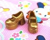 Blythe Antique Gold Shimmer Platform Mary Jane shoes
