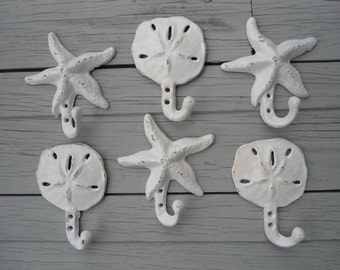 starfish nautical beach decor Outer Banks key hook coastal beach towel rack beach home outdoor shower hot tub sanddollar Beach House Dreams