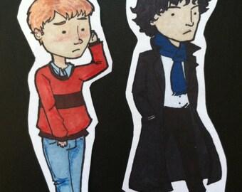SALE Sherlock Stickers Sherlock and Watson