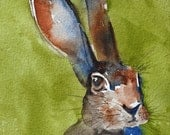 watercolor painting watercolor bunny painting bunny easter Children Nursery Art PRINT SET Easter room decor SALE 8x10 Animal art