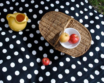Waterproof Picnic Blanket- AS SEEN in Cool Mom Picks- Picnic Blanket- Black and White